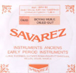 Baroque Violin strings by Savarez, France. SET