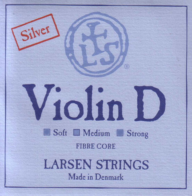 Image of Larsen Violin String, D Silver