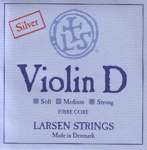 Larsen Violin String, D Silver