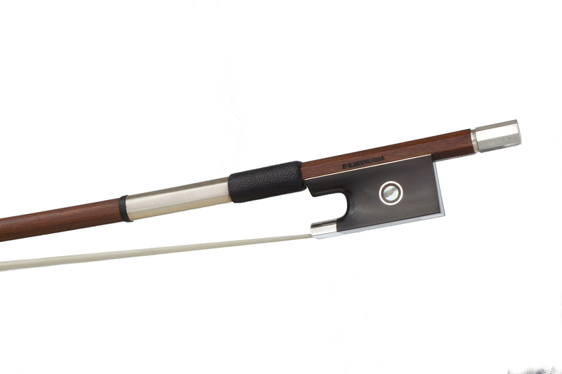 Image of Silver Mounted Violin Bow by F.C. Neuveville, Switzerland