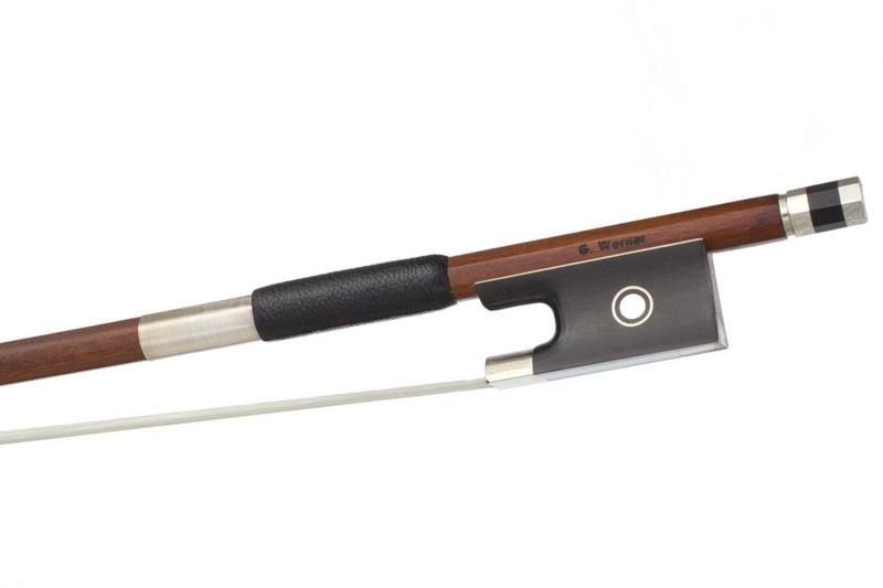 Image of Nickel Mounted Pernambuco Violin Bow by G. Werner