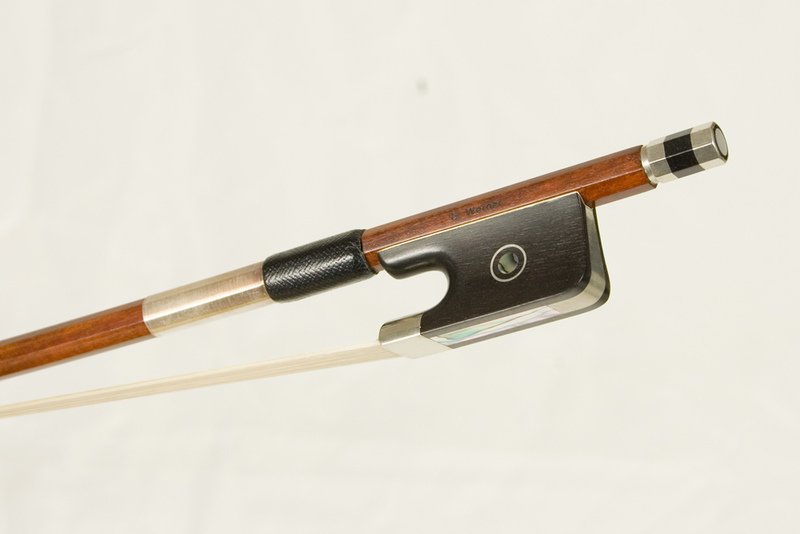 Image of Nickel & Ebony Mounted Cello Bow by G. Werner, Germany