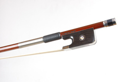 Nickel Mounted Viola Bow by D. Chagas, Brasil