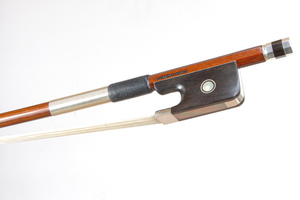 Silver Mounted Cello Bow by D Chagas, Brasil