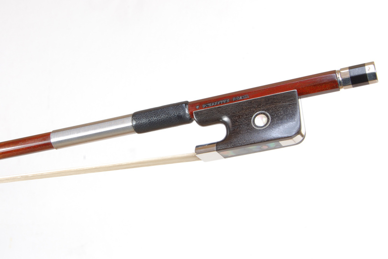 Image of Nickel Mounted Viola Bow by V. Schaeffer, Brazil