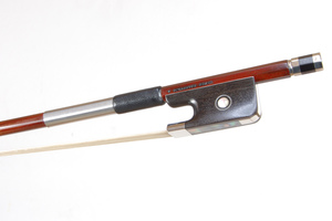 Nickel Mounted Viola Bow by V. Schaeffer, Brazil