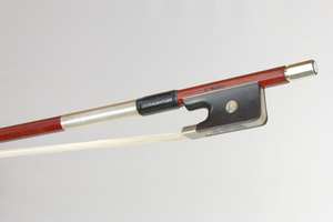 Nickel Mounted Viola Bow by Georg Werner, Germany