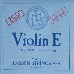 Larsen Violin String, E Gold