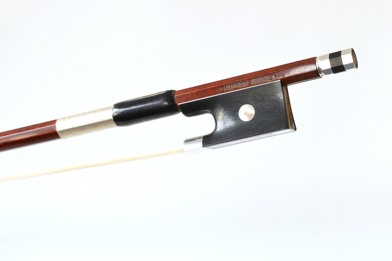 Image of Silver Mounted Violin Bow by Alfred Knoll, Germany