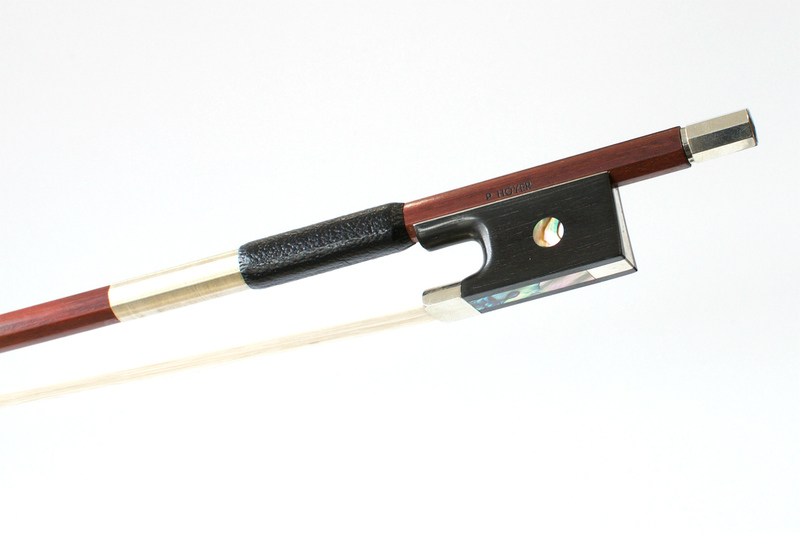 Image of NIckel Mounted Violin Bow by P Hoyer, Germany