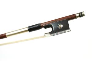 Nickel Mounted Violin Bow by W.E. Dorfler, Germany