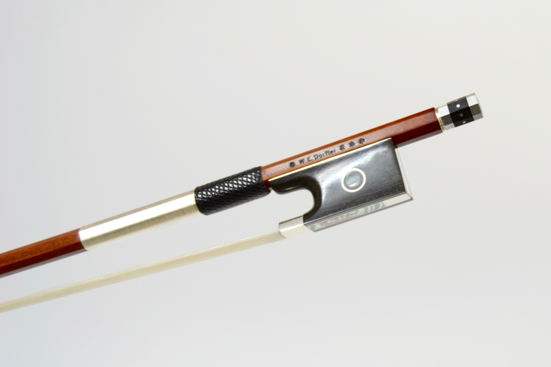 Image of 4* Silver and Ebony Mounted Violin Bow by W.E. Dorfler