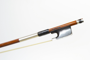 Silver Mounted Viola Bow by A. Carvalho, Brazil