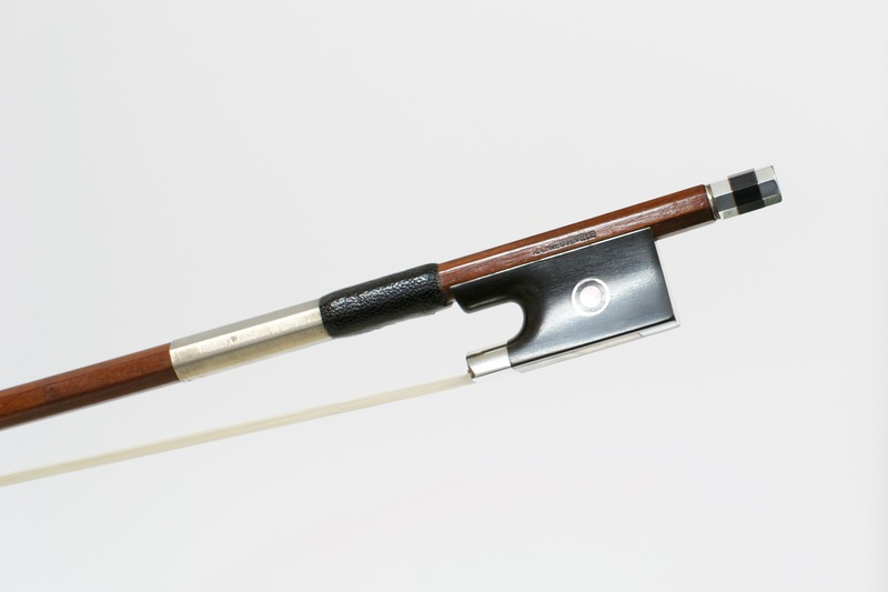 Image of Silver Mounted Viola Bow by R.C. Neuveville, Switzerland