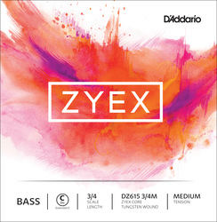 D'Addario Zyex Double Bass String, E Ext.