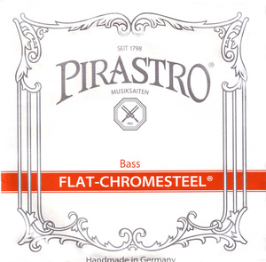 Pirastro Flat-Chromesteel Double Bass String, F#4 Solo
