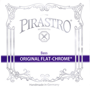 Pirastro Original Flat-Chrome Double Bass String, E2 Solo
