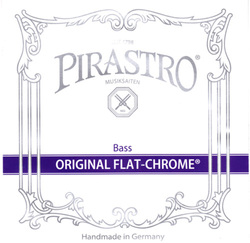 Pirastro Original Flat-Chrome Double Bass String, E2 Solo