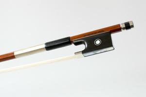 Nickel Mounted Violin Bow by A Schaeffer, Brazil