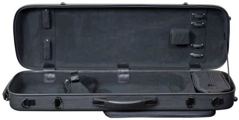 Image of Hidersine Polycarbonate Violin Case. Oblong Model.