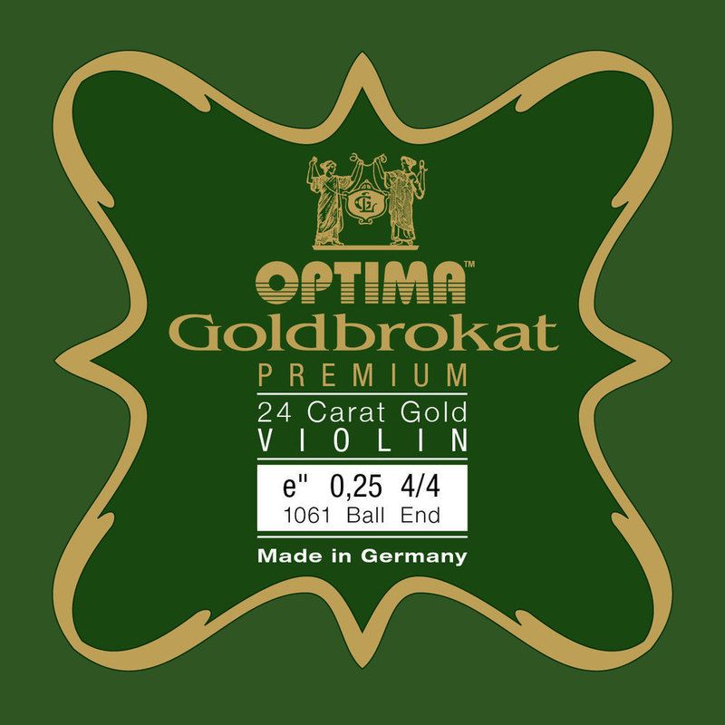 Image of Optima Goldbrokat Premium Violin String, E Gold