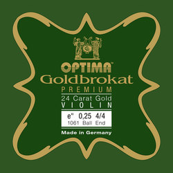 Optima Goldbrokat Premium Violin String, E Gold