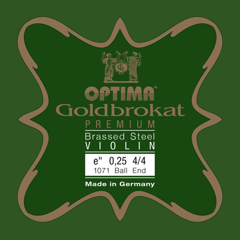 Image of Optima Goldbrokat Violin String E, Premium Brassed