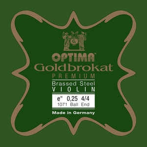 Optima Goldbrokat Violin String E, Premium Brassed