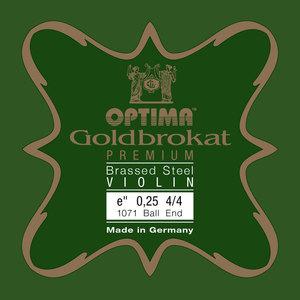 Optima Goldbrokat Violin String E, Premium Brassed