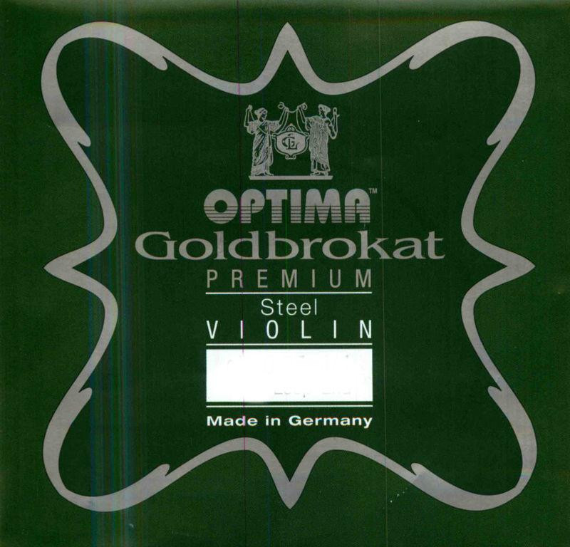 Image of Optima Goldbrokat Violin String, E Steel Premium