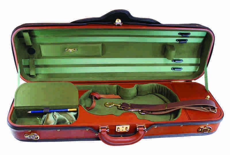 Image of Negri Leather Diplomat Violin Case