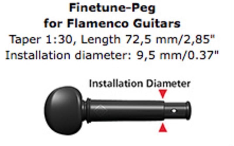 Image of Wittner Finetune Peg for Flamenco Guitar