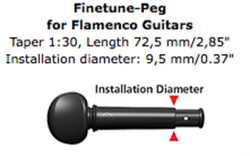 Wittner Finetune Peg for Flamenco Guitar