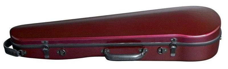 Image of GEWApure Shaped Violin Case - ABS Carbon