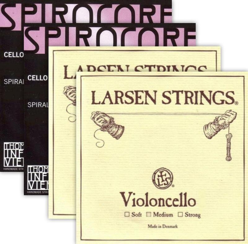 Image of Larsen / Spirocore Professional Cello String Combination Set (Save 5%)