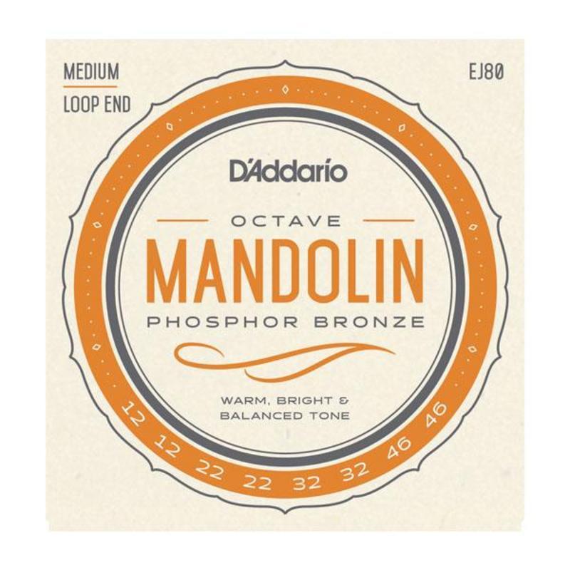 Image of D'Addario EJ80 Phosphor Bronze Octave Mandolin Strings, SET