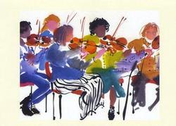 First Violins Greeting Card