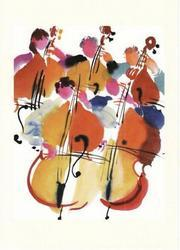 Five Basses Greeting Card