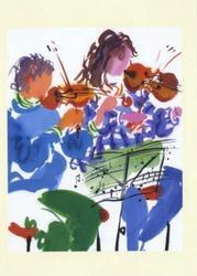 String Duet Greeting Card