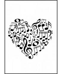 Heart of Clefs Greeting Card
