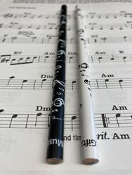 Music Notes Pencils - Pack of 2