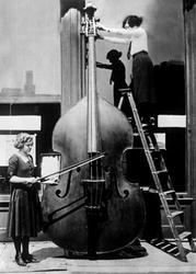 Enormous Cello Greeting Card