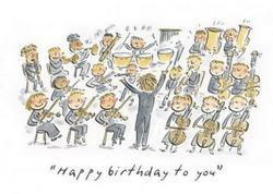 Orchestral Birthday Card