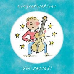 Grade Pass Cello - Congratulations Card